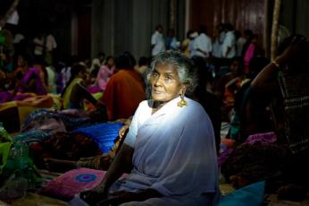 Senior Citizen and senior protestor Chinna Thangam on hunger strike for the third day protesting against the commissioning of Koodankulam Nuclear Power Plant. Chinna Thangam is one of the over 300 women who are on hunger strike from May 3.