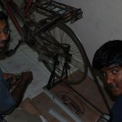 The Bicycle Powered Generator (Courtesy: Harsha, Arvind, Srinath, Gautam. Photo by Youth Action on Climate Change, Chennai)