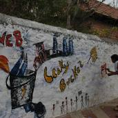 SPACES Wall Painting (Courtesy: Khateeja, Pooja, and co. Photo by Youth Action on Climate Change, Chennai)