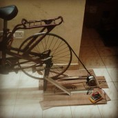 The Bicycle Powered Generator (Courtesy: Harsha, Arvind, Srinath, Gautam. Photo by Pooja)