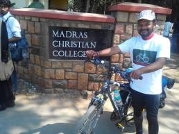 Rakesh ready to ride around West Tambaram