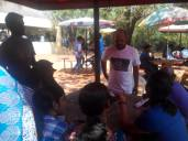 Interaction with students in the canteen